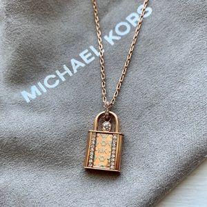 Michael Kors Necklace - Rose Gold Lock
